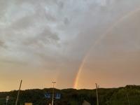 金沢では大きな虹