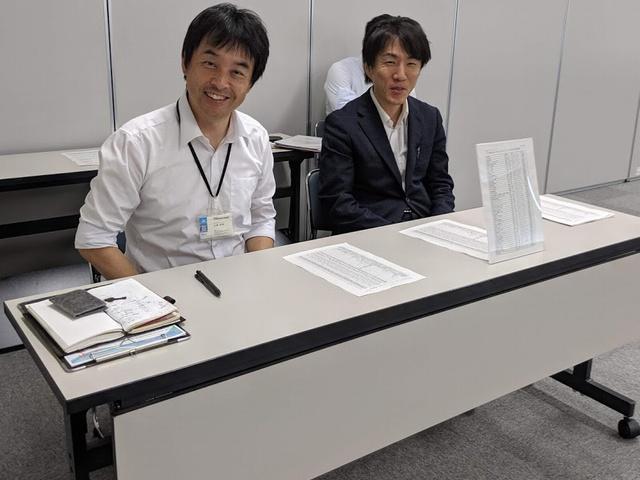 ISICO山崎氏(左)と、よろず支援拠点で能登地区のアドバイザー守部氏