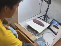 五郎島金時の形をAI判定する設備導入をしている農家
